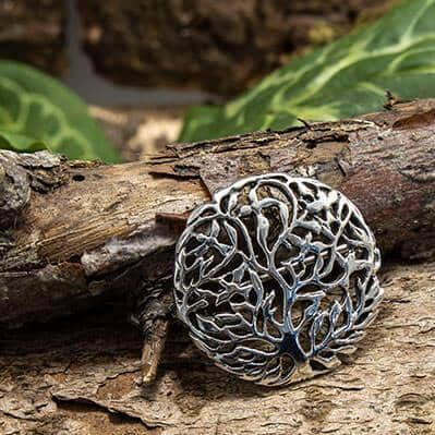 Brooch Yggdrasil Tree of Life 925s Sterling Silver
