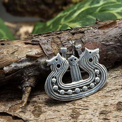 Brosch Viking Ship 925s sterling silver