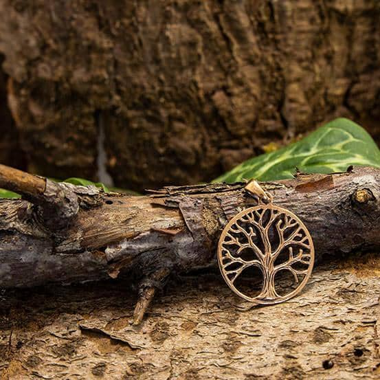 Yggdrasil Tree of Life Raw Raw Pendant Bronze