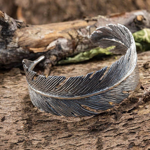 Armbånd Bangle Feather 925s Sterling Sølv