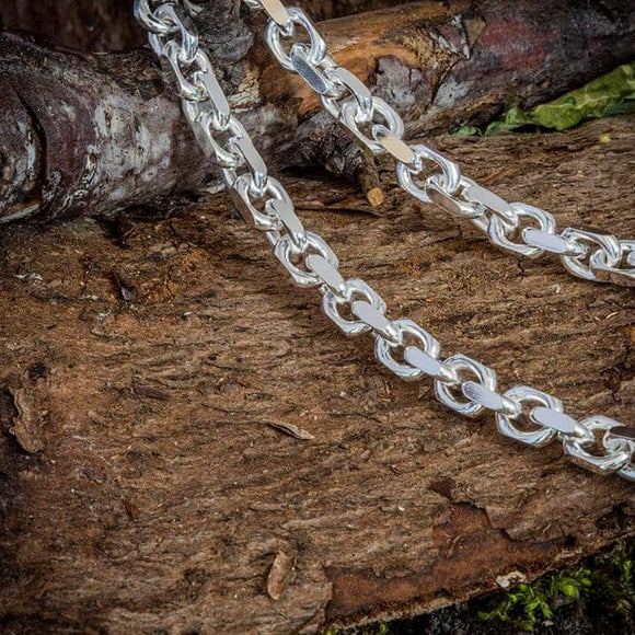 Necklace Anchor Chain 925s Silver 7mm