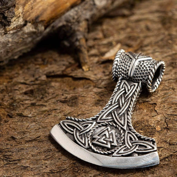 Thor's Hammer Pendant Axling 925s Sterling Silver
