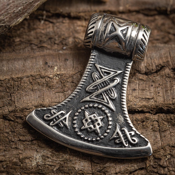 Viking Ax Pendant Steel