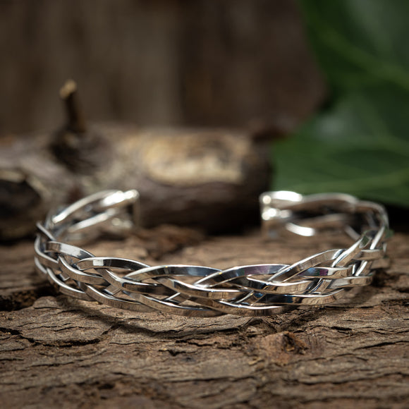 Armbånd Bangle Flet 925s Sterling Sølv