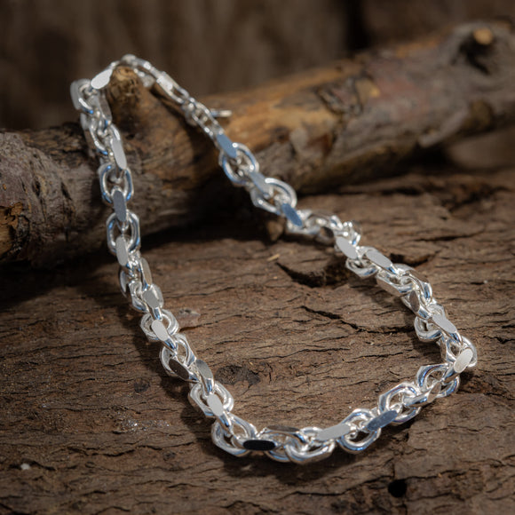 Bracelet Anchor Chain 6mm 925s Silver