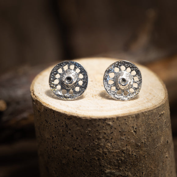 Ear Studs Sun Wheel Agir 925s Silver