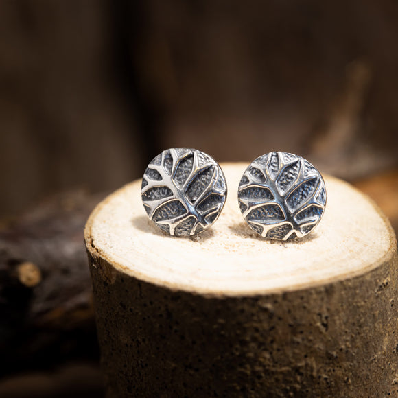 Ear Studs Tree of Life Ancient 925s Silver