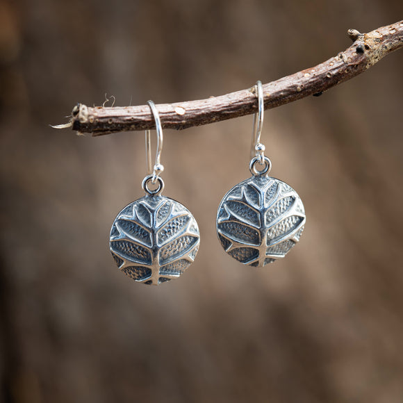 Hanging Earrings Yggdrasil Tree of Life Trial 925s Silver