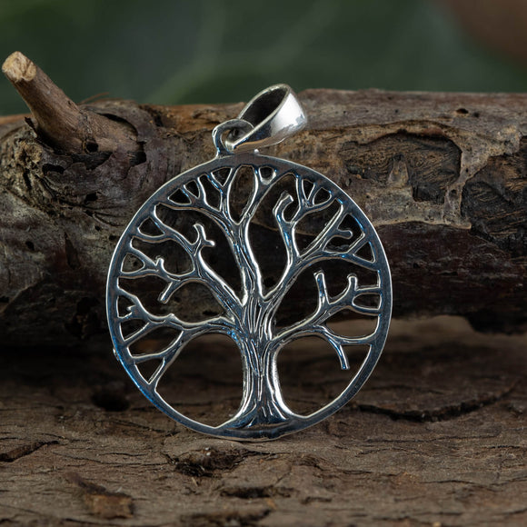 Yggdrasil Tree of Life Pendant Wonder 925s Sterling Silver