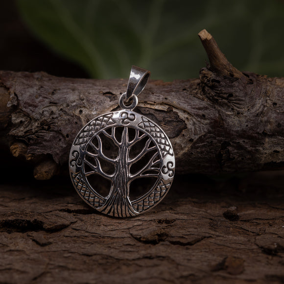 Yggdrasil Tree of Life Pendants Withra 925s Silver