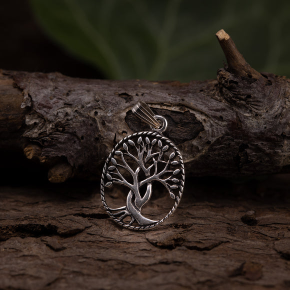 Yggdrasil Tree of Life Pendants Rinth 925s Silver