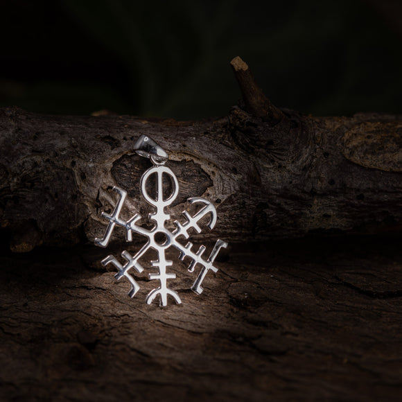 Rune Amulet Directory Pendant 925s Sterling Silver