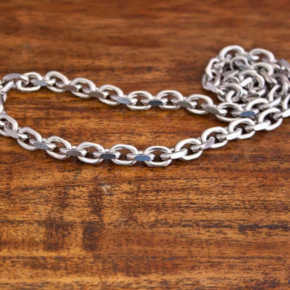 Necklace Anchor Chain in Steel 8mm