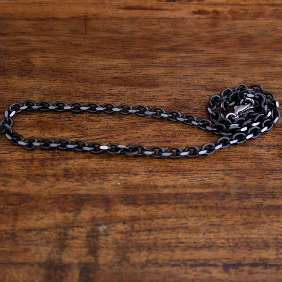 Necklace Anchor Chain Black Steel 5mm