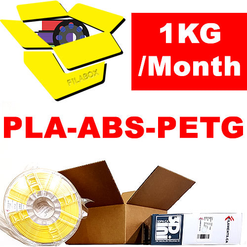 FILABOX Monthly 3D Printer Filament Subscription Box Canada USA