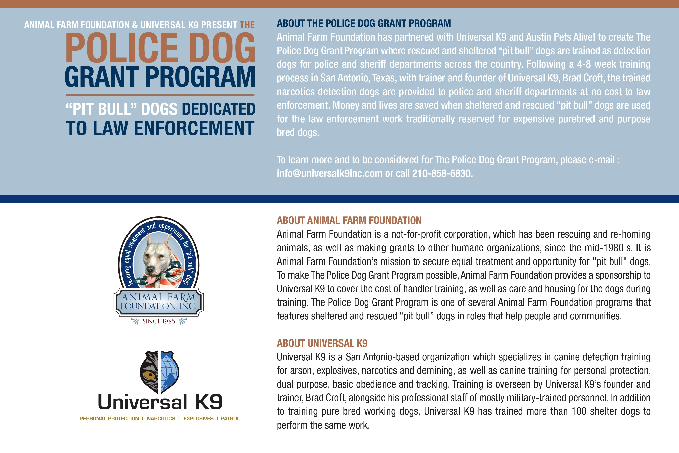 K9 Kiah Police Detection Dog Postcard