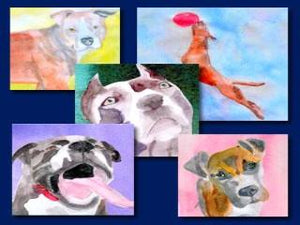 """Everyday Dogs"" Watercolor Note Cards"