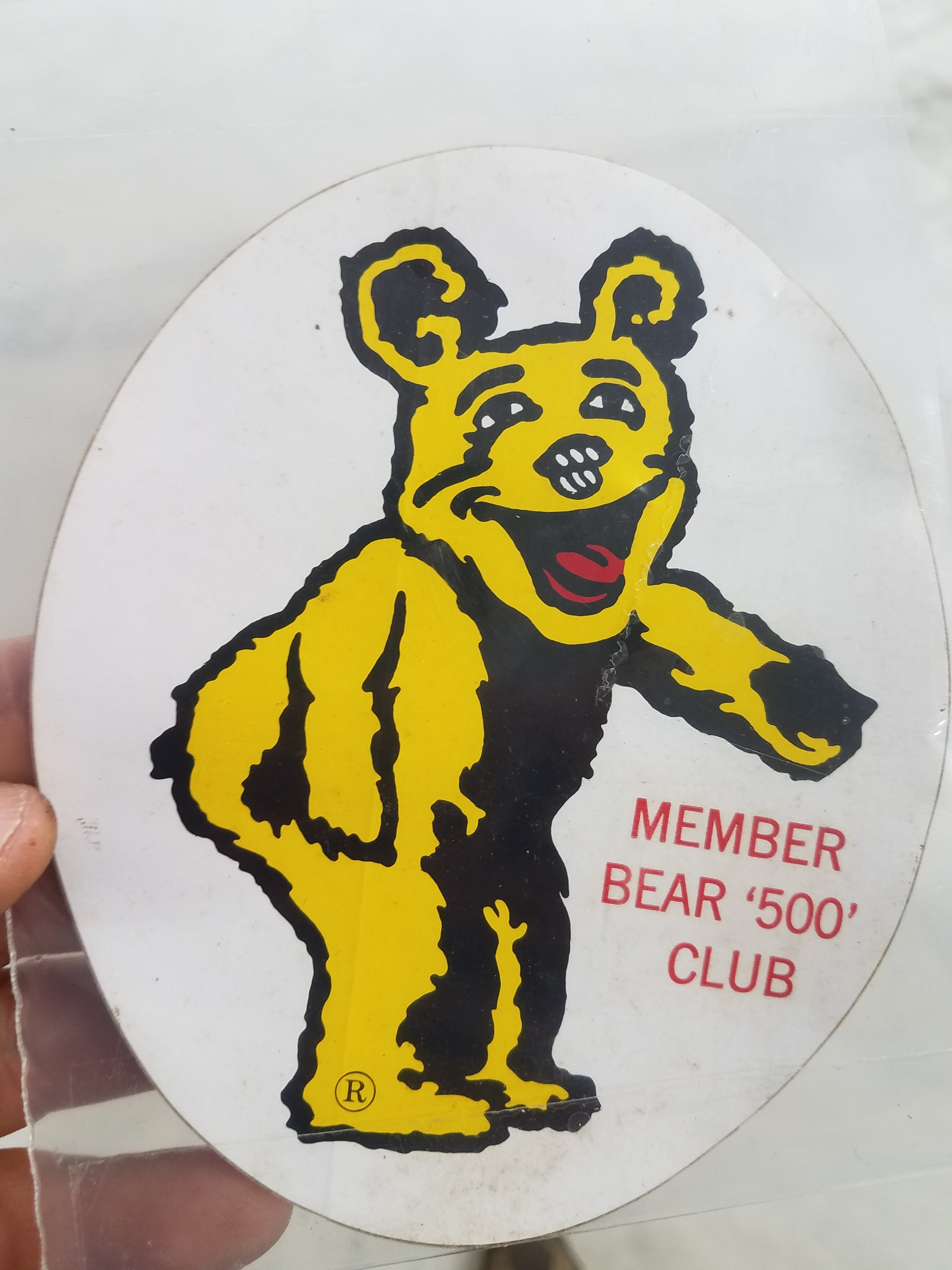 "1967 Indianapolis Speedway Bear Member  ""500' Club Decal"