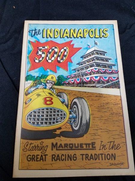 1957 INDIANAPOLIS 500 Marquette Program Comic/ Magazine Framed (12 pages)