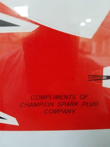 1950s Original Champion Cardboard Boat Promotional Item Framed
