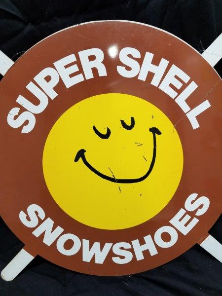 "1960-1970s Shell ""SUPER SHELL SNOWSHOES"" Metal Tire Insert"