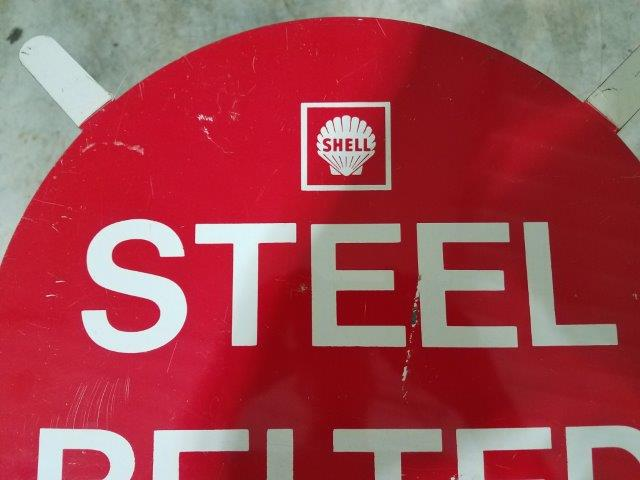 "1960-1970s Shell ""STEEL BELTED"" Metal Tire Insert"