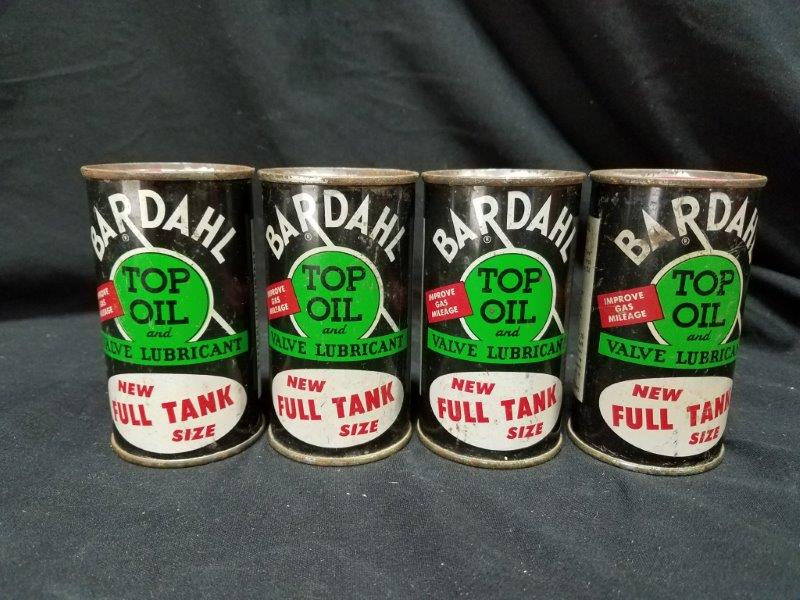 4 Bardahl Top Oil and Valve Lubricant Full 6 oz Metal Cans
