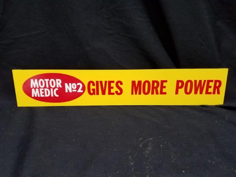 Motor Medic No 2 Gives More Power Metal Display Sign