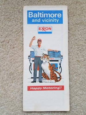 1973 Exxon Baltimore & Vicinity Road Map