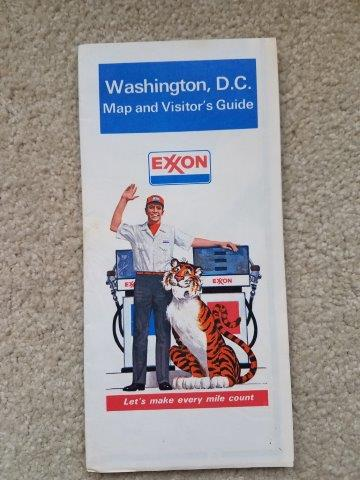 1977 Exxon Washington DC Map