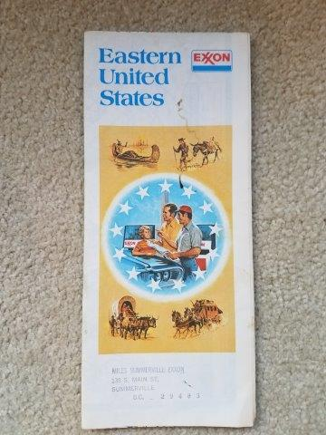1976 Exxon Eastern US Road Map