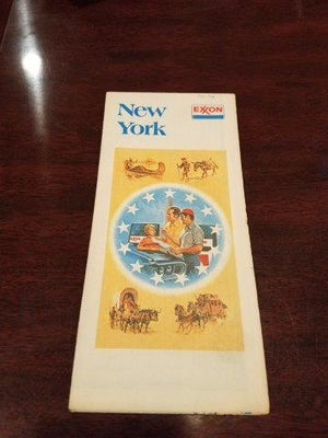 1975-1976 Exxon New York Road Map