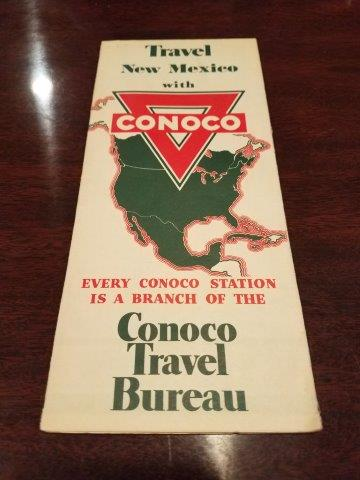 1936 Conoco New Mexico Road Map