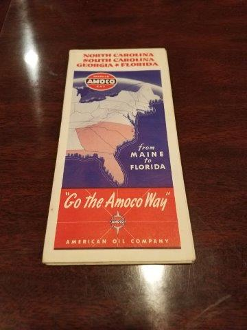 1940s Amoco American Oil Company North Carolina, South Carolina, Georgia, and Florida