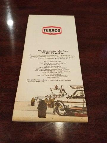 1975 Texaco Eastern US Road Map