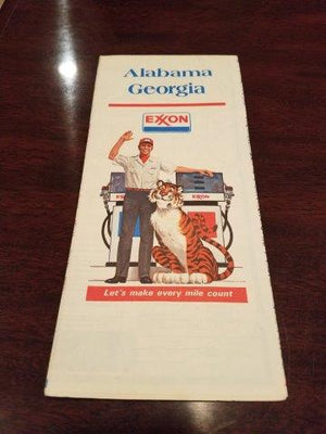 1977 Exxon Alabama and Georgia Road Map