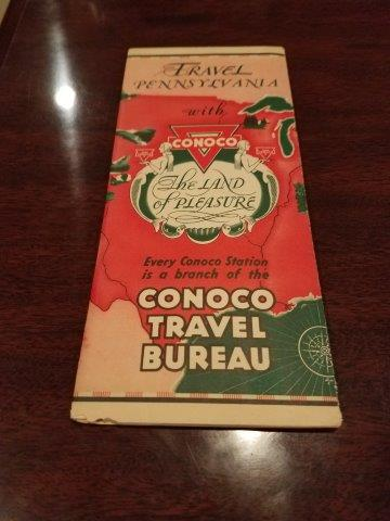 1930s Conoco Pennsylvania Road Map