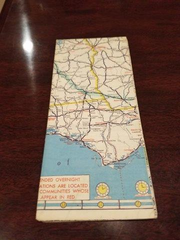 1955 AAA Southeastern US Road Map