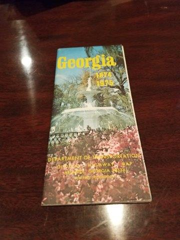 1974-1975 Georgia Dept of Trans Road Map