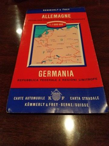 1960s-1970s Kummerly & Frey Germany Road Map