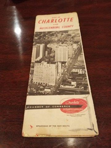 1959 Charlotte North Carolina Chamber of Commerce Map