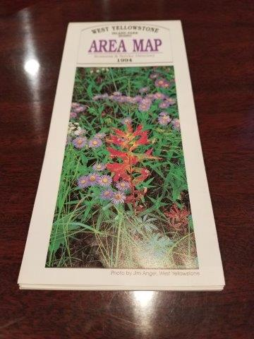 1994 West Yellowstone Island Park Idaho Area Map