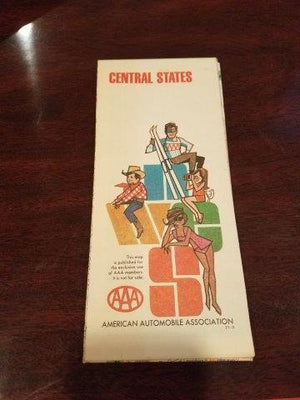 1971 AAA Central States Road Map
