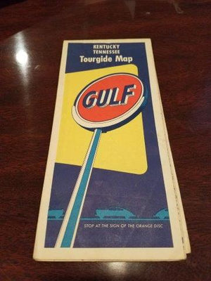 1950s Gulf Oil Kentucky Tennessee Tourguide Map