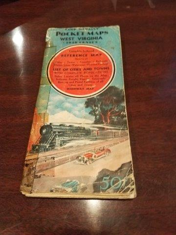 1940s Rand McNally West Virginia Pocket Map