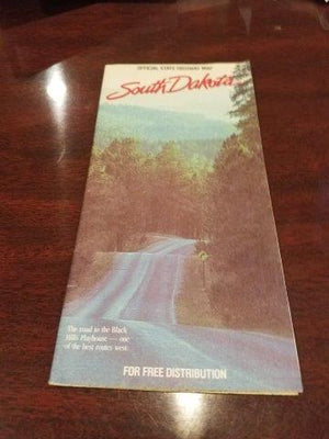 1980s South Dakota State Highway Map