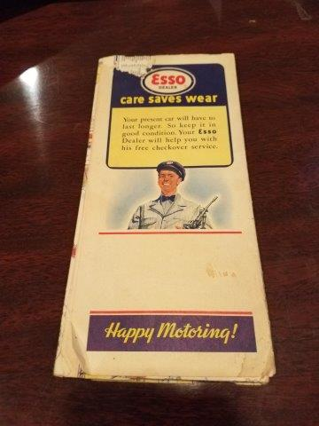 1940s Esso Pennsylvania with Pictoral Guide Road Map