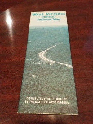 1983-1984 West Virginia State Highway Admin Road Map