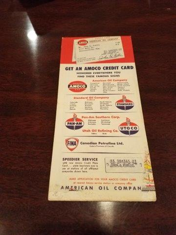 1950s Amoco Maine New Hampshire Vermont Road Map