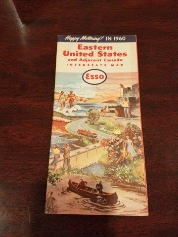 1960 Esso Eastern United States Road Map